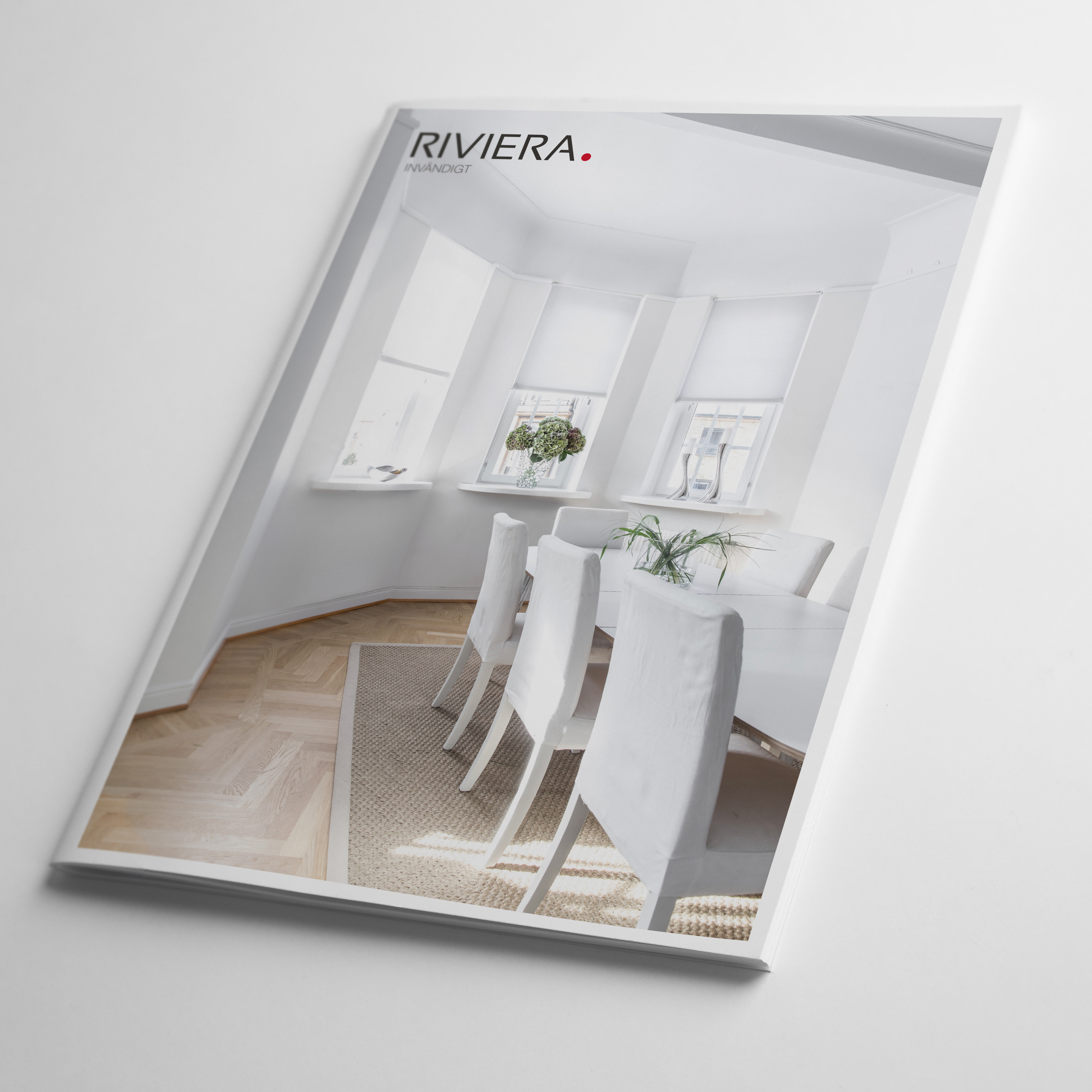 Blank book on white background. Mock up for design